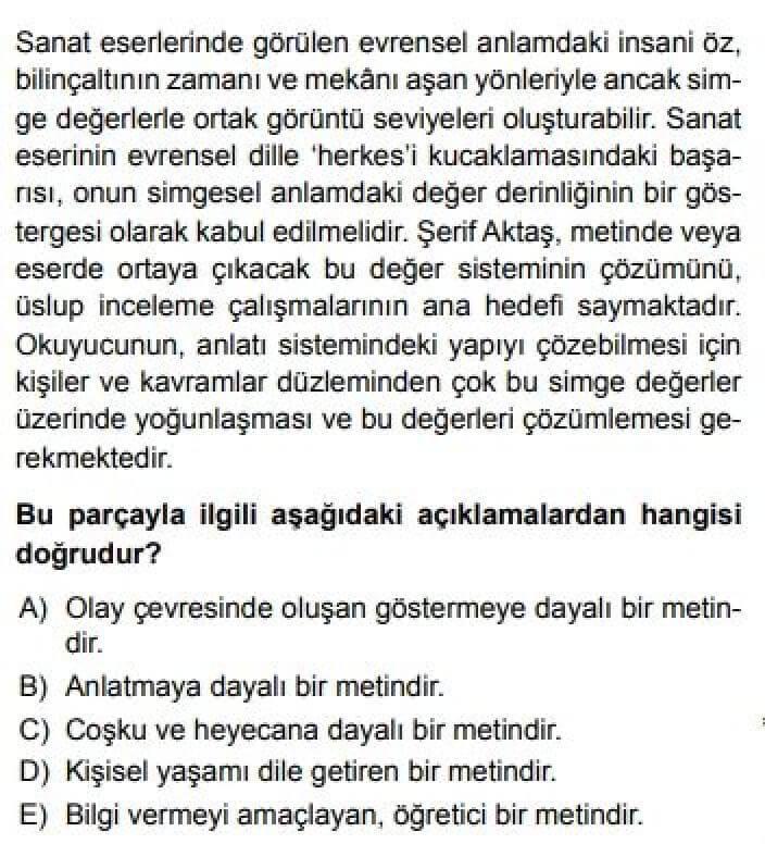 11. Sınıf Dil ve Anlatım Test 16 Makale -1 - Soru 2